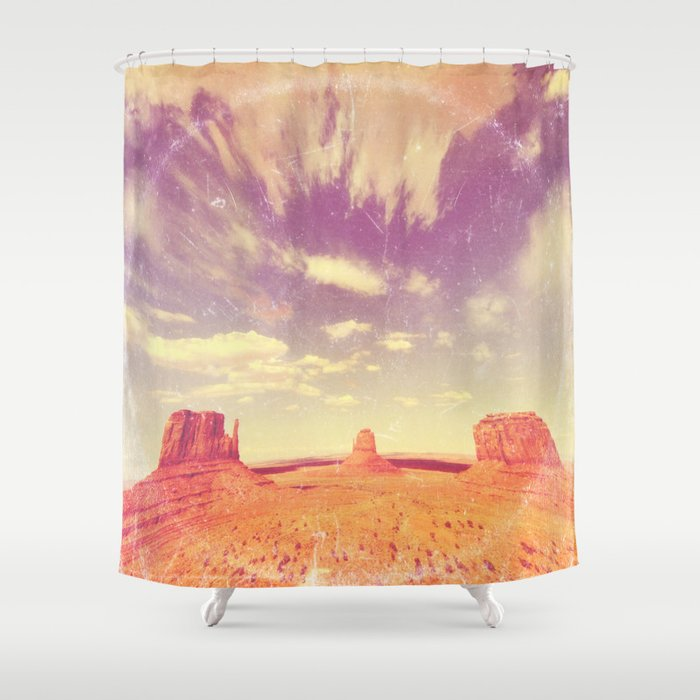Navajo Country - America As Vintage Album Art Shower Curtain