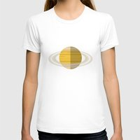 saturn T-shirts featuring Saturn by Oinkasaurus