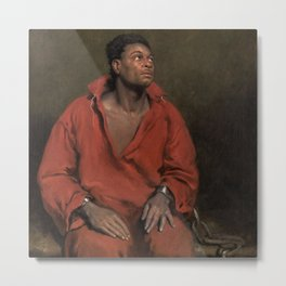 African American Masterpiece The Captive Slave by John Philip Simpson Metal Print