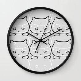 Emocat Allover Gray Wall Clock