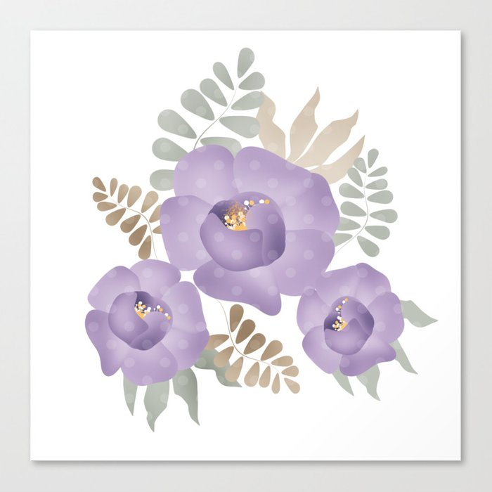 Light lilac roses. Canvas Print