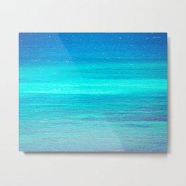 The Turquoise Sea Metal Print