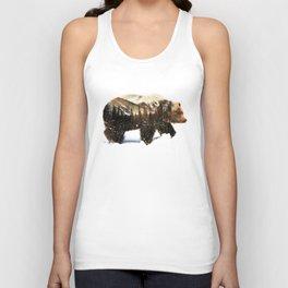 Arctic Grizzly Bear Unisex Tanktop