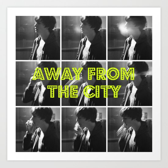 AWAY FROM THE CITY Art Print