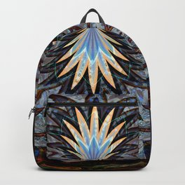 Brooch on a grey background Backpack