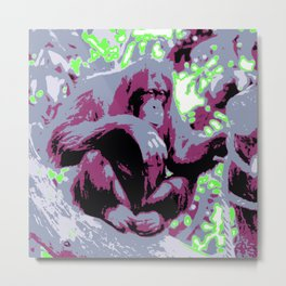 Pop Art Orang Utan Metal Print