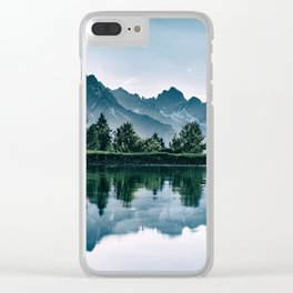 Lake Symmetry Clear iPhone Case