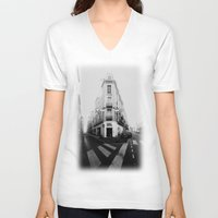 france V-neck T-shirts featuring Monochrome France by MarioGuti