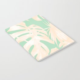 Tropical Palm Leaves on Pastel Green II Notebook