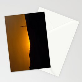 Sunset over the hills Stationery Cards