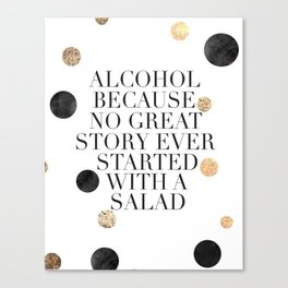 ALCOHOL BAR SIGN, Alcohol Quote,Drink Sign,Celebrate Life,Weeding,Anniversary,Home Bar Decor,Quote P Canvas Print