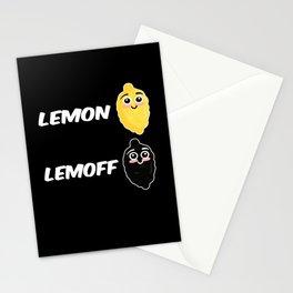 Lemon Lemoff Lemon Lime Fruits Stationery Cards