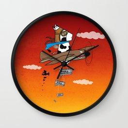 Muso Milkwar Aircraft Wall Clock