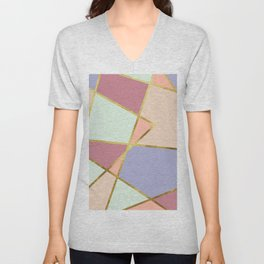 candy geometric Unisex V-Neck