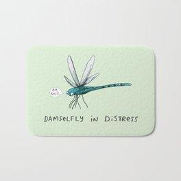 Damselfly in Distress Bath Mat