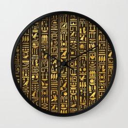 Gilded Hieroglyphs Wall Clock