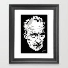 Sir Christopher Lee Framed Art Print