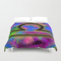 libra Duvet Covers featuring Libra by Synesthetic