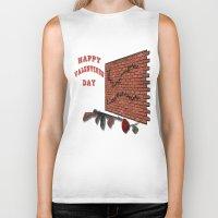 valentines Biker Tanks featuring Valentines Day by designx79