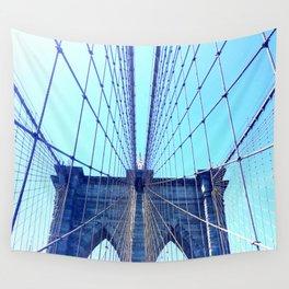 BROOKLYN BRIDGE - LIGHTER Wall Tapestry