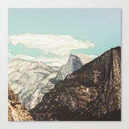 Half Dome Peek Canvas Print