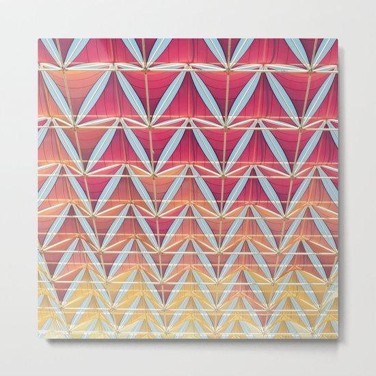 From pink to yellow pattern Metal Print