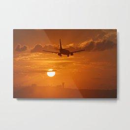 sunset landing Metal Print
