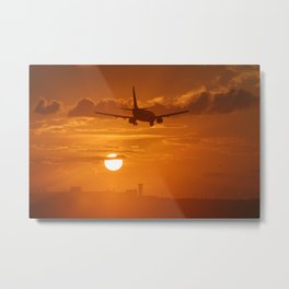 sunset landing Metal Print