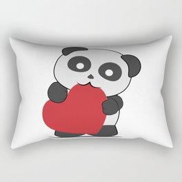 Panda love Rectangular Pillow