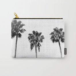 Black + White Palm Trees Carry-All Pouch