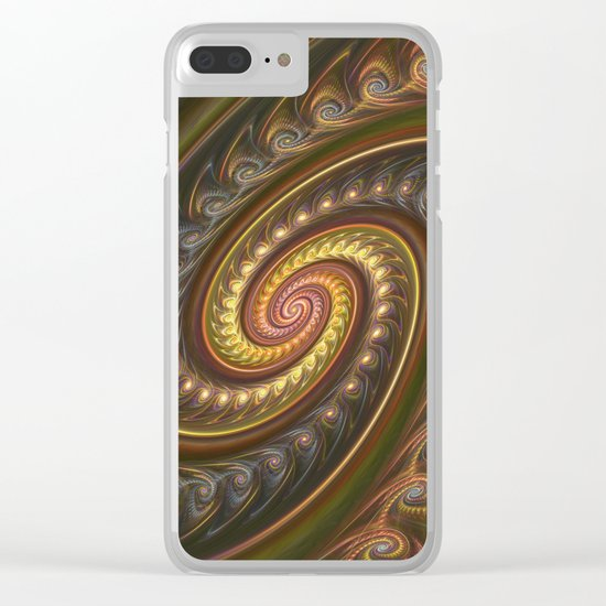 Spirals in a spiral, fractal abstract Clear iPhone Case