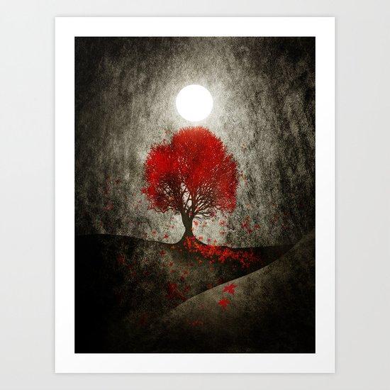Red autumn. Art Print