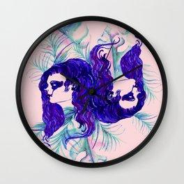 Stylized Gemini zodiac Wall Clock