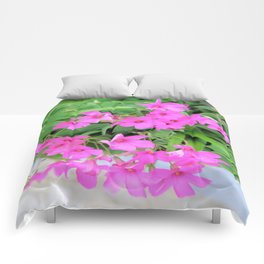 pink trefoil Comforters