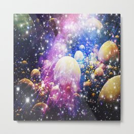 Galaxy Worlds Colllide Metal Print