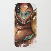 samus iPhone & iPod Cases featuring Samus by Alonzo Canto