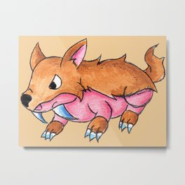 Sabertooth Piggy Metal Print