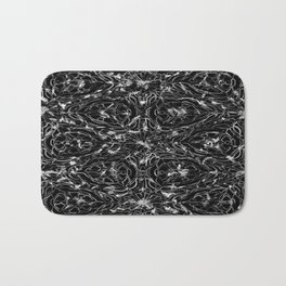 Black and white astral paint 5020 Bath Mat