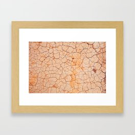Cracked dry land pattern Framed Art Print