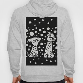 Funny Dalmatian Spotted Dogs Abstract Artwork Hoody