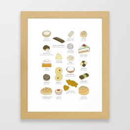 Swedish Cakes & Cookies Framed Art Print