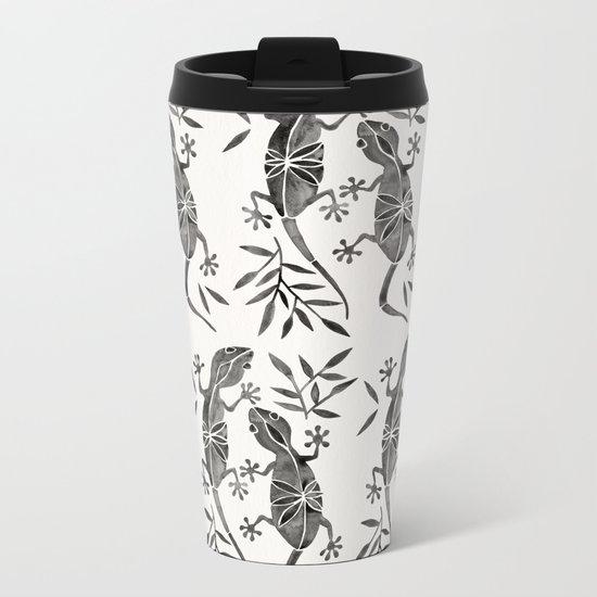Geckos – Black Palette Metal Travel Mug