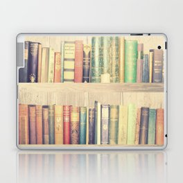 Dream with Books - Love of Reading Bookshelf Collage Laptop & iPad Skin