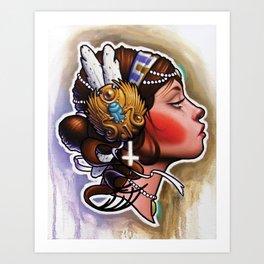 Profile Right Art Print