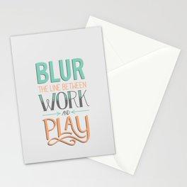 Work and Play Stationery Cards