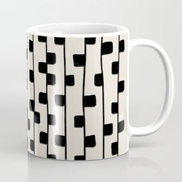 Squares / Black & White Pattern Coffee Mug