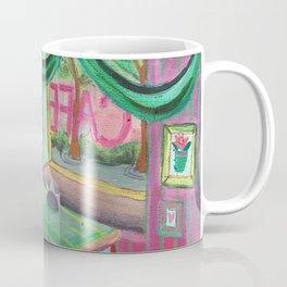 cute lovers sitting in a cafe Coffee Mug