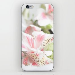 Pink flower and bokeh camera in the morning (Still Life Photography)  iPhone Skin