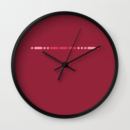 """Love"" - Morse Code - Secret Message - Single Wall Clock"