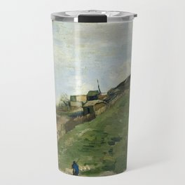 The Hill of Montmartre with Stone Quarry by Vincent van Gogh Travel Mug